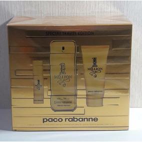 Kit One Million Perfume 100 Ml + Gel De Banho 100 Ml +15 Ml