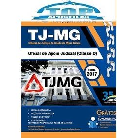 Apostila E Curso Grátis Tj-mg 2017 - Oficial De Apoio Judic
