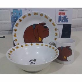 Set Desayuno La Vida Secreta De Las Mascotas (loza)