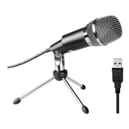 Microfono Usb Tipo Condenser Hugel Gm18u Grabacion Gaming