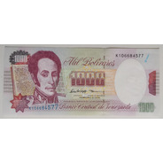 Billete Venezuela 1000 Bolívares Febrero 5 1998 K9 Unc