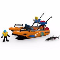 Barco De Resgate Com Lançador Imaginext Fisher Price Mattel