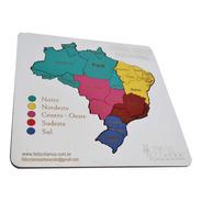 Quebra Cabeça Mapa Do Brasil Mdf