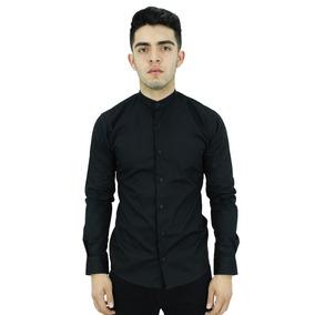 Camisa M/l Mao Lisa Negra