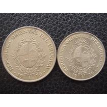 Uruguay - Set De 2 Monedas De 50 Y 20 Pesos, Año 1970 - M/b