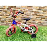 Bicicleta Turbo Racing Rodada 16 Rojo Con Azul