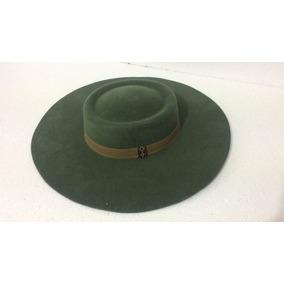 G - Chapéu Campeiro Minuano Verde Militar Aba 10cm