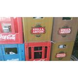 Cajon De Cerveza Stella Con Botellas Vacias