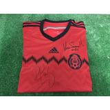Jersey Playera México Selección Firmado Hugo Sanchez 2014