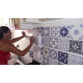 Adesivo Azulejo Português Hidráulico Fácil Aplicar 15x15 Cm