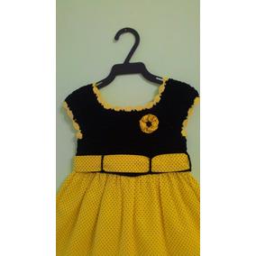 Vestido Bebês Peças Exclusivas Crochê E Tecido 100% Algodão