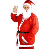 Roupa Fantasia Papai Noel Natal Kit Completo Adulto Importad