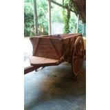 Carro De Boi Rodas De Madeira, Excelente Acabamento
