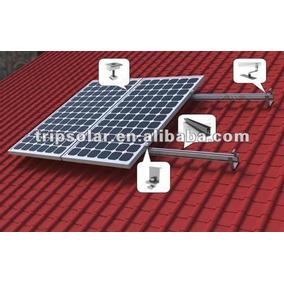 Kit Montaje Para Teja, Para 4 Modulos Solares 60 72 Celdas