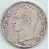 Moneda De Plata 5 Bolívares - Fuerte De Plata De 1911
