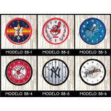 Reloj Pared Equipos Beisbol