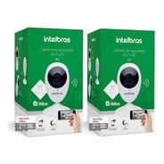 Câmera Ip Intelbras Ic3 Mibo Wifi C/ Cartão 32gb Kit 2un