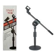 Pedestal De Mesa Para Microfone Smart Ts08 + Cachimbo