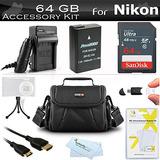 64gb Kit De Accesorios Para Nikon Df, D5500, D5200, D5300,