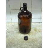 Antiguo Botellon Vidrio Marrón Con Asa,