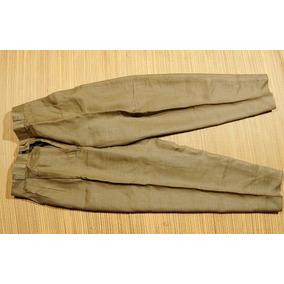 Pantalon Lino Para Dama Verde Aceituna (poco Uso)