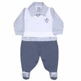 Macacão Longo Bebê Malha English Polo Sonho Mágico