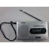 Mini Radio Portátil Análoga Am/fm Antena De Bolsillo