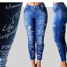 Calça Skinny Jeans Detalhe Perna Canal Da Mancha