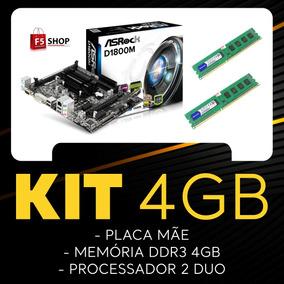 Kit Placa Mãe + Processado Core 2 Duo + Memória 4gb