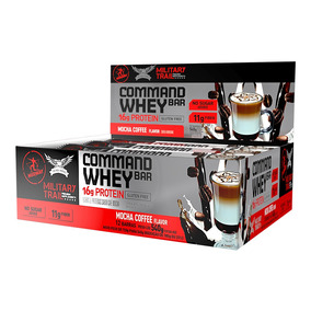 Command Whey Bar 45g - 12 Unid. Mocha Coffee Midway Labs