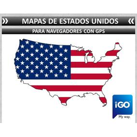 Mapas De Estados Unidos Eua Usa Navegador Auto Sd Igo Auto