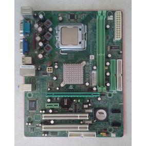 Placa Base Motherboard 775 Usada Con Detalle + Pentium 506