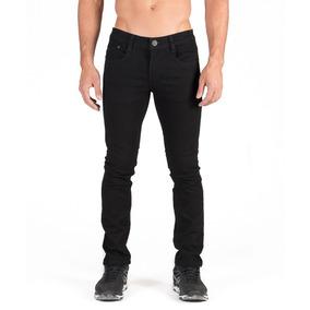 Pantalón Negro Caballero , Slim Fit, Bolsa Con Secciones.