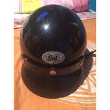 Casco Sol Helmet. Original. Color Negro Brillante M 57-58
