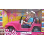 Juguete Barbie Beach Cruiser Jeep Vehículo W Ken