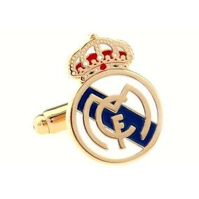 Mancuernillas Real Madrid Logo Club Football Doradas D-115