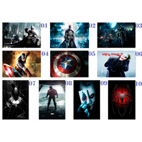 Adesivos Personalizados Super Heróis Marvel Dc - 8 X 12