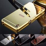 Capinha Bumper Espelhada Sony Xperia Z3+ Plus Z4 + P/ Vidro