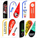 Fly Banners 3,20 Mts Gota Surf Pluma Sail Drop Cube