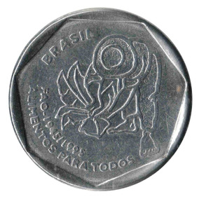 1995 Moeda Comemorativa Fao 25 Centavos - Circulada