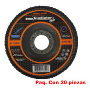 Disco Laminado (flap) Gladiator Pro Grano 60 Paq. 20 Piezas