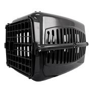 Caixa De Transporte  Preta Para Gatos Coelho Cão Pequeno Nº3