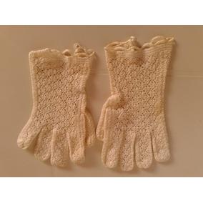 Guantes Beige Para Novias Tejidos A Mano Crochet