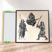 Quadro Canvas Premium 40x40 - Samurai Vintage Oriental 5