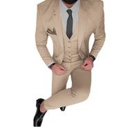 Trajes Importados Hombre Entallados Con Camisa Slim Fit