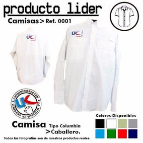 Camisas Tipo Columbia Uniformes Manga Larga Gratis Bordado