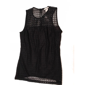 Musculosa Negra Importada H & M Espalda Encaje
