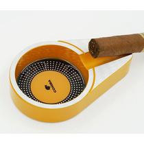 Cohiba Cenicero De Titanio Para Puro Habano Cubano Amarillo