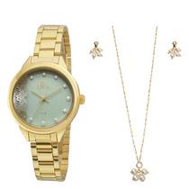 Relógio Allora Feminino Ref: Al2035fgj/k4z Kit
