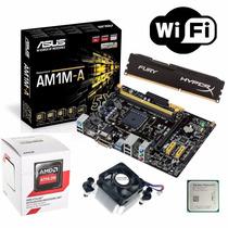 Kit Asus Am1m-a/br + Athlon 5150 Quad + 8gb Hiperx + Wifi